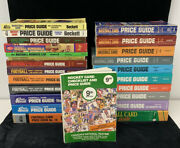 Lot Of 24 Diff 1979-93 Baseball Hockey Basketball And Football Annual Price Guides