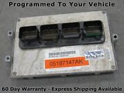 07 Jeep Wrangler Jk 3.8l At Ecu Ecm Pcm Engine Computer 05187147ak 147 Prog 7938