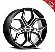 New 4ea 22x9 Mkw Wheels M121 Gloss Black Machined Face Rims 22 22inch S6