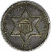 1868 Three Cent Silver Au Uncertified Hits