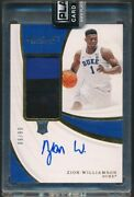 2019 Immaculate Collection Collegiate Premium Patches Rookie Autographs Zion ...
