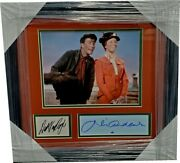 Dick Van Dyke Julie Andrews Autographed Cuts Framed W Photo Mary Poppins