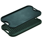 Pre-seasoned Cast Iron Reversible Grill/griddle Camp 20x10.5 2 Day Delivery