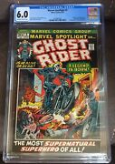 Marvel Spotlight 5 Cgc 6.0 Ow To White Pages Origin And 1st Ghost Rider Blaze