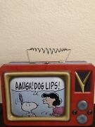 Peanuts Snoopy And Lucy Vandor Lunch Rare Hard To Find Metal Lunchbox 90s Vintage