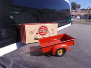 Vintage Carter Tru Scale Farm Toy Pickup Trailer Yellow Wheels With Box