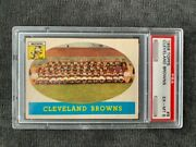 Jim Brown With 1958 Topps 9 Browns Team Psa 6 Centered Jb '58t62rc Sold11,000