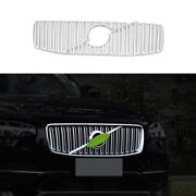 Fit For Volvo Xc90 2016-2021 Matte Silver Front Upper Bumper Mesh Grill Grille
