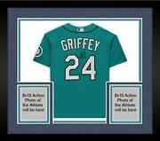 Frmd Ken Griffey Jr. Mariners Signed Green Authentic Jersey And Hof 16 Insc