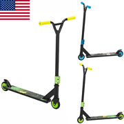 Pro Stunt Scooter With 2 Wheels And Strong Aluminum Deck Trick Kick Outdoor Play