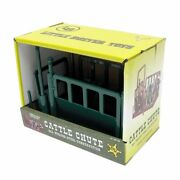 1/16 Little Buster Toys Metal Green Cattle Squeeze Chute Cow Farm Toys 500235
