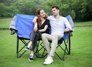 Camping Loveseat Dual Person Conversation Chair Camping Lounge Outdoor Bench_new