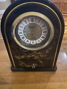 Papillon Clock Battery Operated Approximately 12 Inches Tall By 8 Inches Wide