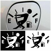 Vinyl Car Stickers Funny High Gas Consumption Decal Fuel Gage Empty Stickers