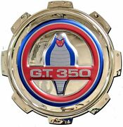 Shelby Gt 350 Gas Cap Stainless Steel Wall Hanging Sign - Blue/red/chrome 22