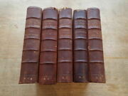 1866 Emile Souvestre Works 5 Volumes Nouvelle Edition, Half Leather , French T8