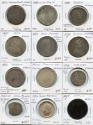 World Mix Coins 1600and039s-1800and039s Issue 12 World Coins Collection Rare And Nice Lot.