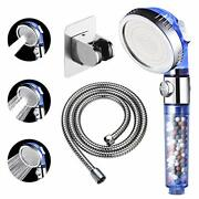 Filtered Shower Head With On Off Switch, 3 Modes Envy Showerhead, Blue