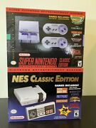 Nintendo Snes And Nes Classic Edition Mini Console Brand New Sold Out