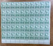 Us 747 Mint Sheet 50 Zion National Park Stamps 8c Vf Nh 1934