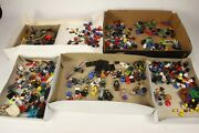 Lego Minifigures Large Lot 400+ Parts And Pieces Bodies Heads Hair Helmets Weapons