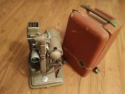Vintage Revere Model 85 8mm Movie Projector With Cord And Case 1940s Working