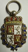 Spanish Period Sterling Enameled Philippine Medal - G. And C. Co Maker