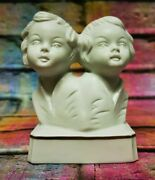 Vintage Wagner And Apel Zodiac Figurine Bisque Pottery Germany Porcelain 'gemini'