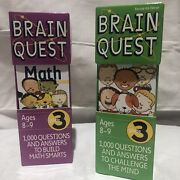 Brain Quest 3rd Grade Card Deck 1 And 2 Questions And Answers 2 Sets Math Ages 8-9