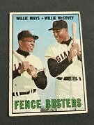 Vintage 1967 Topps 423 Fence Busters/willie Mays/willie Mccovey C-pics