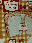 Rare Nos Vintage Mint 1958 Duncan Hines Angel Food Cake Mix Box Only Unused