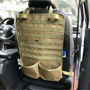 Seat Back Organizer With Rack Tactical Seat Covers Car Protector Hunting Suv