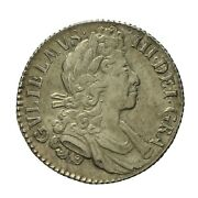 William Iii Silver Shilling 1700 Small 00and039s S3516
