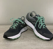 Saucony Women's Cohesion 10 Gray/mint Running Shoes Size 8 Wide S15343-3