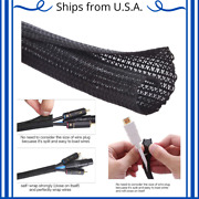 Heavy Duty Braided Sleeve Wire Wrapper Loom Tubing Cable Split Cord Protector