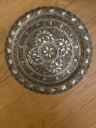 Beautiful Silver Plated Cooper 12andrdquo Middle Eastern Tray Marked