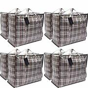 Deco Express Pack Of 8 X Large Strong Storage Laundry Shopping Bags - Xl Moving