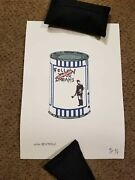 Not Banksy Follow Your Dreams Soup Can Edition Ap 2/3 Signed Coa 11x8 2010