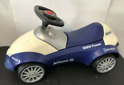 🟦 Genuine Bmw Baby Racer Blue/white Ride-on Push Car Made In Germany Heavy