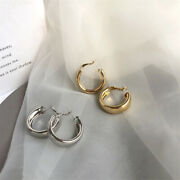 Fashion Hoop Chunky Gold Silver Small Big Earrings Womenand039s Punk Circle Earrings