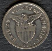 1929-m Us Philippine 20 Centavos United States Of America Silver Coin Stock 3