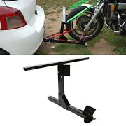 Motorcycle Trailer Carrier Tow Hitch Rack W/ Free Tie-down Bar