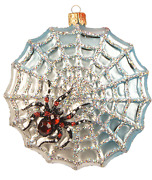 Spider Web The Legend Halloween Insect Polish Glass Christmas Ornament 110318