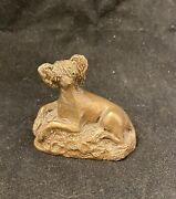 Chinese Crested Coldcast Bronze Figurine