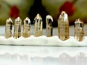 10 Ct. Rough Imperial Topaz Gemstones Natural Raw Crystal Point Wholesale Lot X7