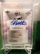 2019 Spencer Rattler Leaf All American Bowl 1/3 Laundry Tag Rpa Auto Oklahoma