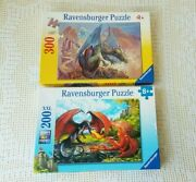 Ravensburger Jigsaw Puzzles Lone Dragon And Dueling Dragons 200-300 Piece
