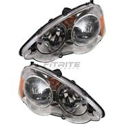 New Left And Right Head Lamp Fits Acura Rsx 2002-2004 Ac2518101 Ac2519101