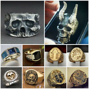 Fashion Jewelry 925 Silver Gold Rings For Men Party Rings Free Shipping Size7-13