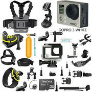 Gopro Hero3 White Sport Wi-fi Camera Camcorder With 40 Pcs Accessories Kit